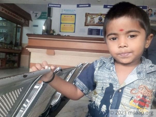 This 3-year-old boy is suffering from a severe Kidney disease