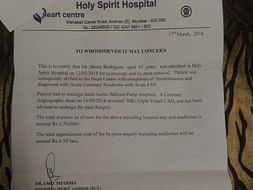 Help Henry Rodrigues for his heart by-pass Surgery