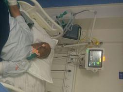 Help of  my father fight against brain hemorrhage in I.c.u