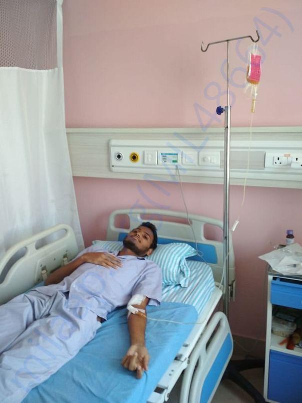 Fibrinogen being transplanted to saran