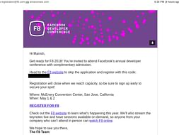Help Adarsh Learner to Attend Facebook F8 2018 Developer Conference