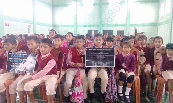 Poor school children when KCSSS help and support them