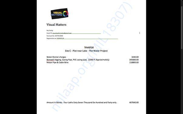 Site 3 Invoice