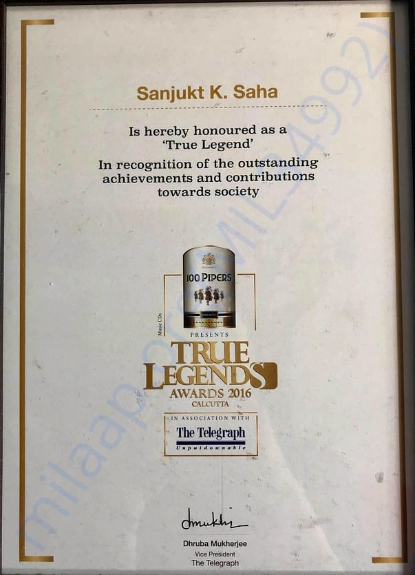 Telegraph True Legend Award
