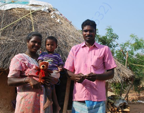 Livlihood support for a Irula Tribe family at Sendrapalayam