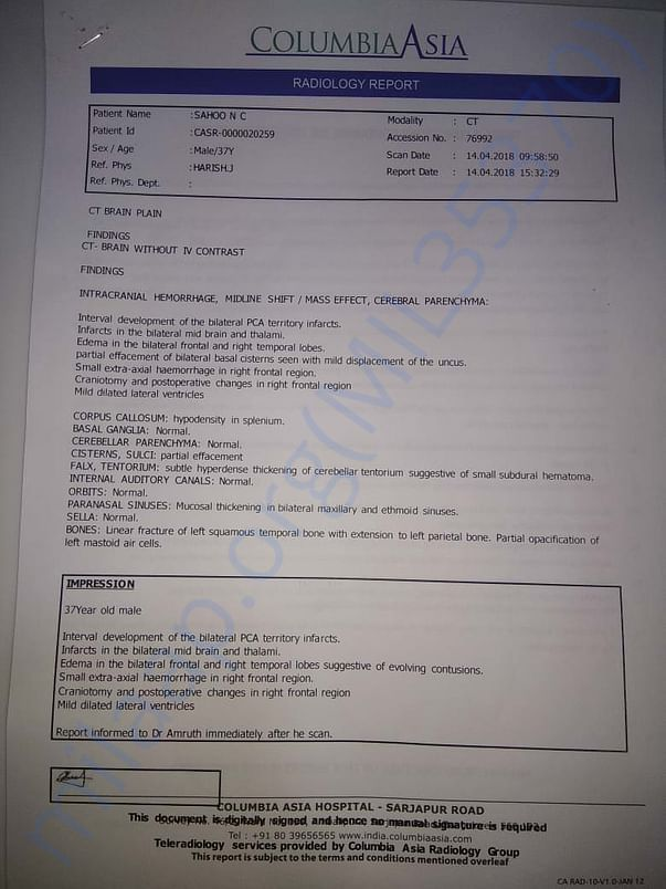 CT scan report 2