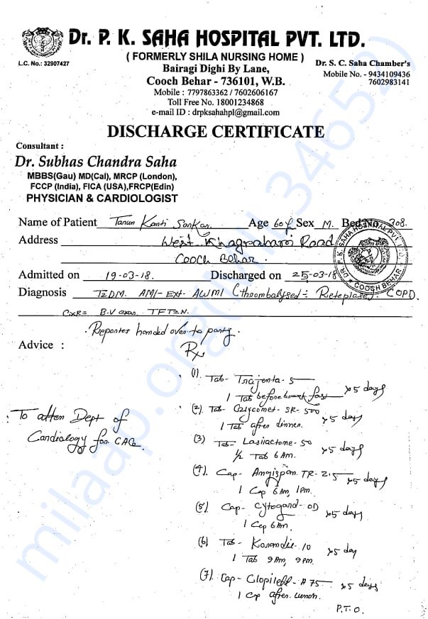 Medical Reports pre surgery
