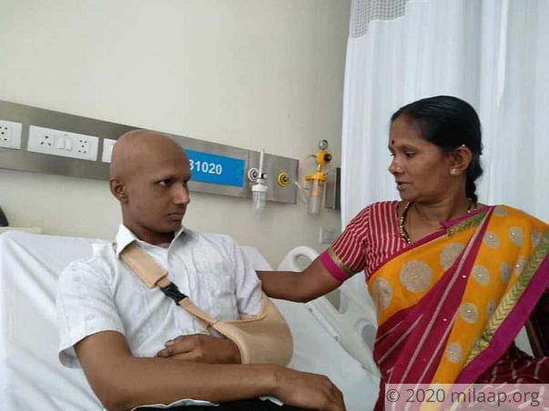 21-year-old Paramesh is struggling to fight bone cancer