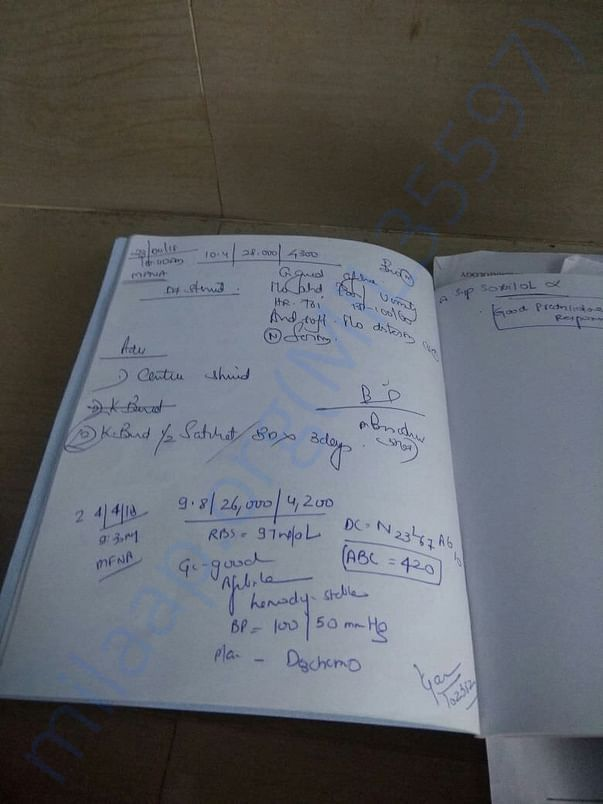 case sheet of adithyan