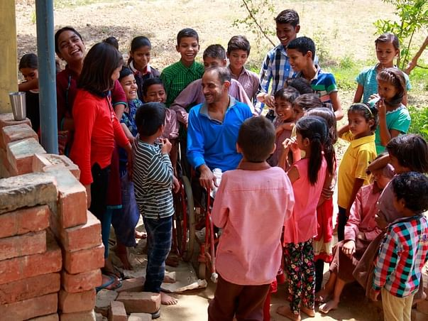 Help Physically Challenged Gopal Continue To Educate Village Children!