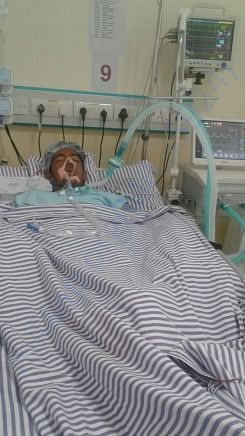 Som is currenty in ICU.