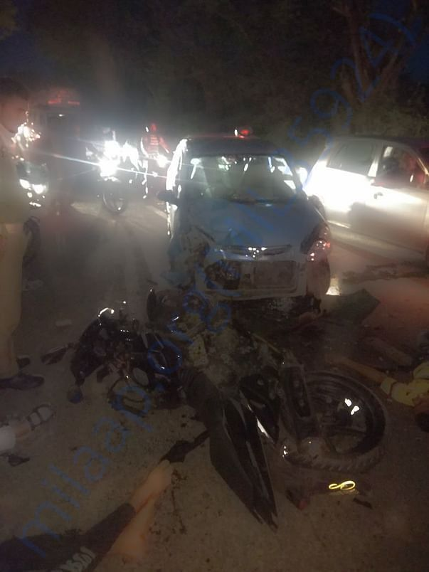 Accident Images captured by media.