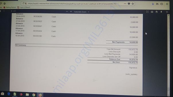 Total Estimated Bill