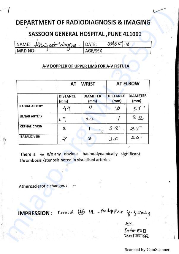 Abhijit Medical report