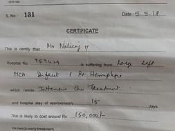 Help My Maid's Uncle Natraj Fight Hemorrhage