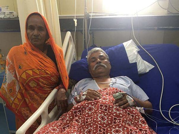 Help poor old abandoned senior citizen man fight death