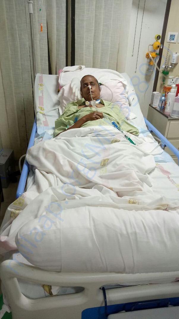 My mom in hispital