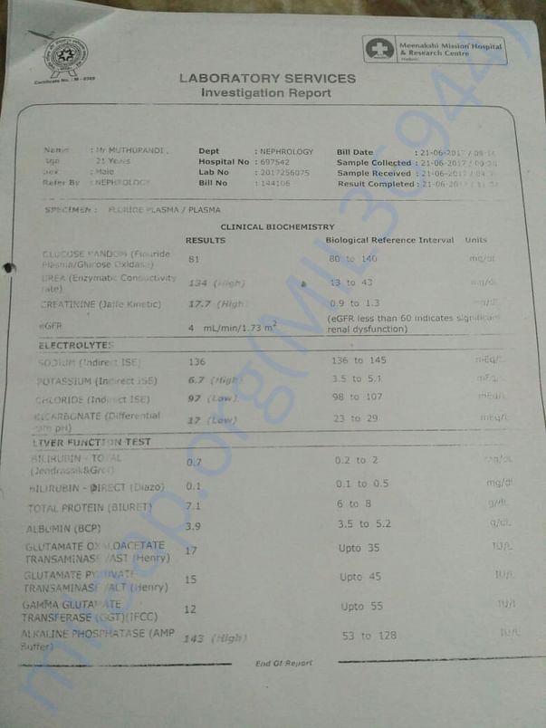 Muthupandi's test reports
