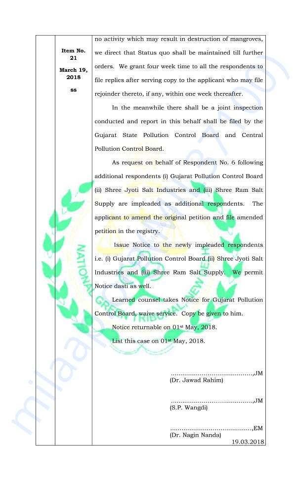 Temporary Stay Order by the NGT (page 2)