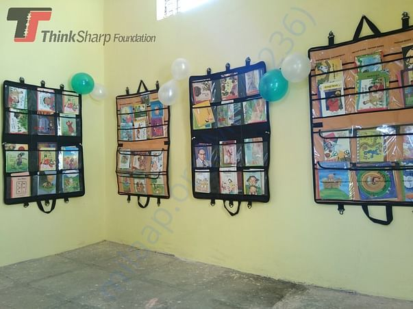 Library set up at Z.P school Kalegaon,Dist.Buldhana