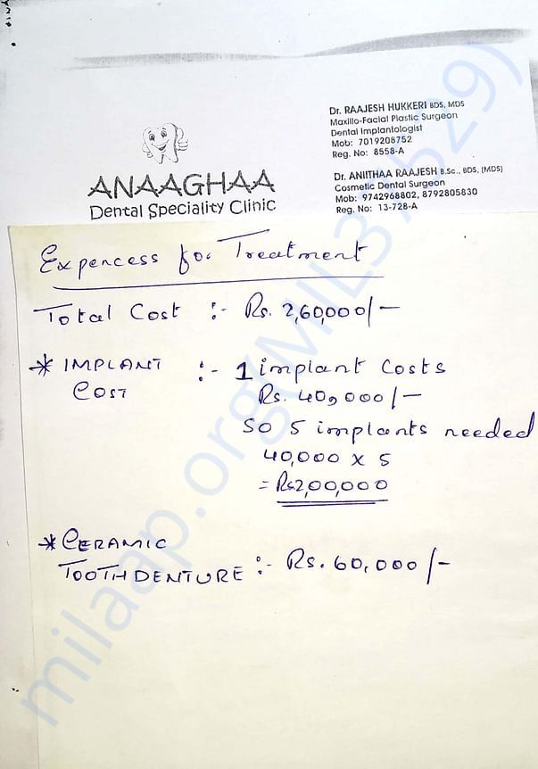 Tooth implant cost breakdown