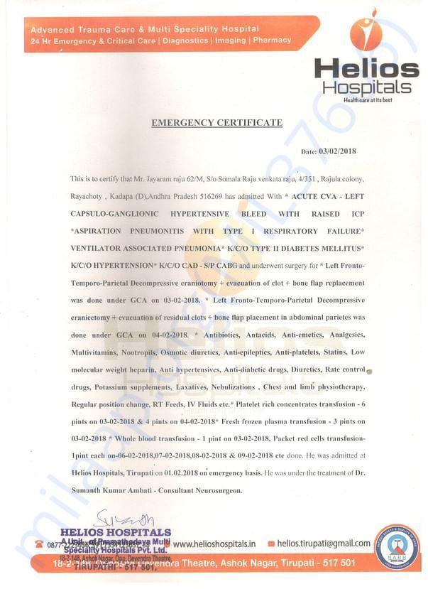 Hospital Represent Doctor Letter