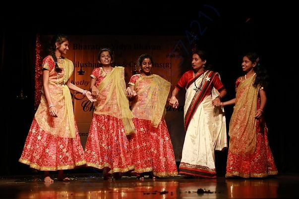 Differently abled Children being trained and performance