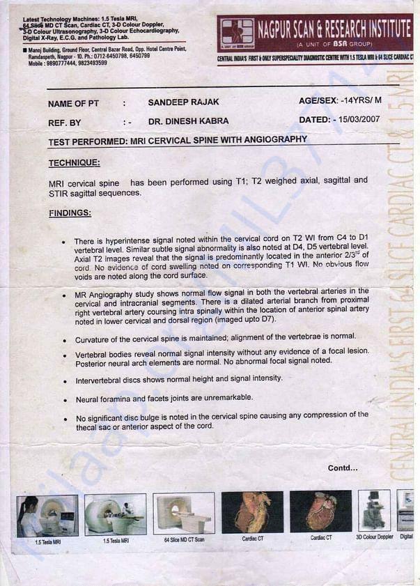 Sandeep rajak medical records