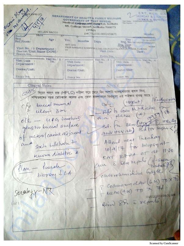 Reports, tests and prescription of Milan Bagdi