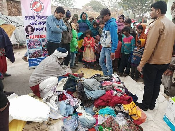 Cloth collection done by our organization