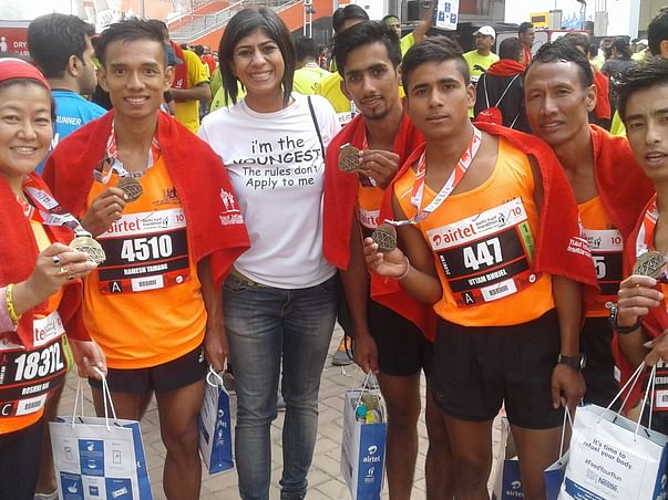 Support the underprivileged marathon runners of India.