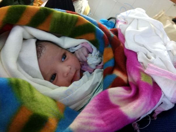 Her one day born BABY, away from her mother LOVE and CARE since birth