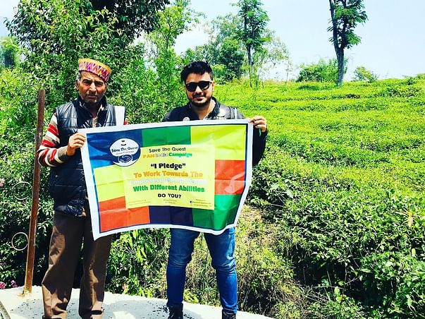 Ride For Netraheen (blind) Golden Quadrilateral