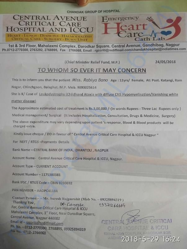 estimation letter for rabiya bano