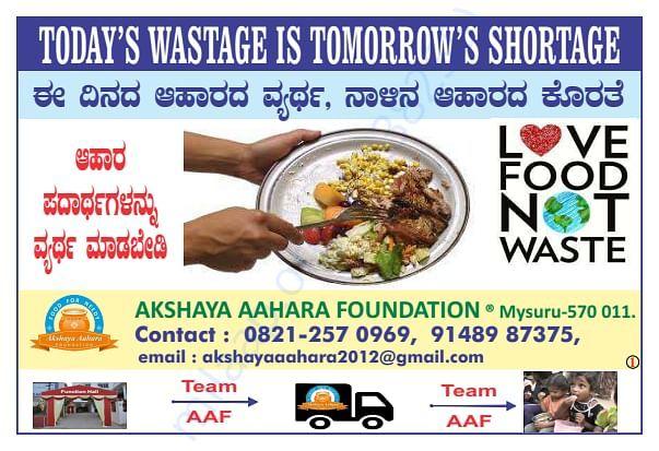 Anti Food Wastage Posters