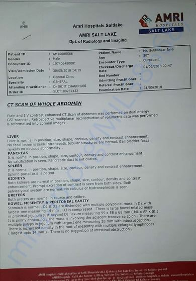 CT Scan Report 1