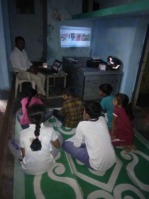 Learning Through Online English Module. ( Panchasheel Nagar)