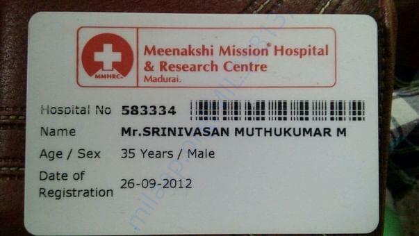 Hospital Registration ID card