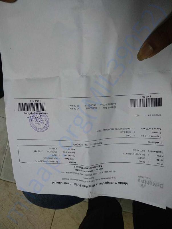 ICU bill.
