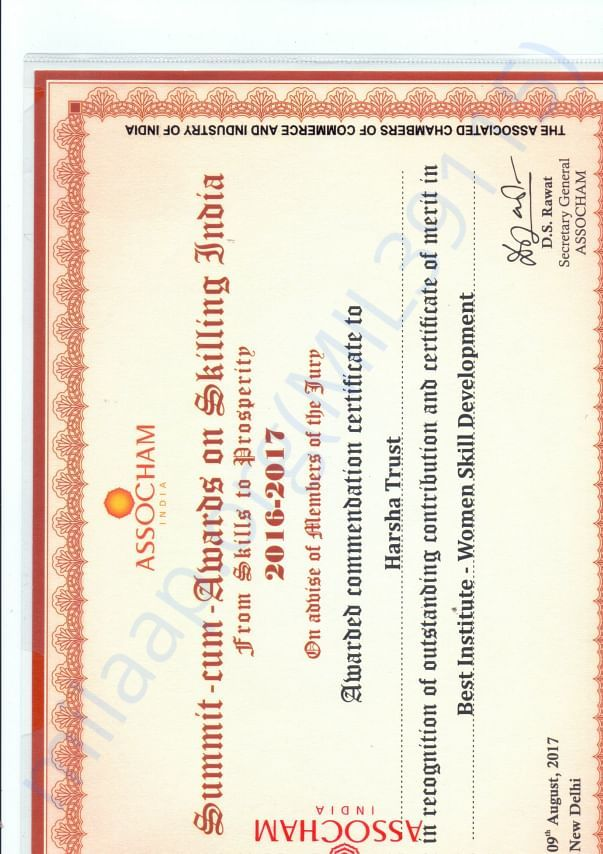 Award from ASSOCHAM on Women Skill Development