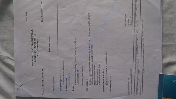 Medical test report1