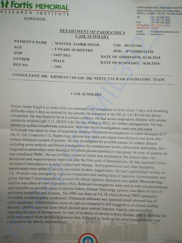 Jasbir's Case Summary