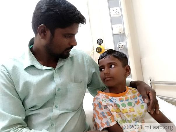 Help 7-year-old Jagan fight heart disease