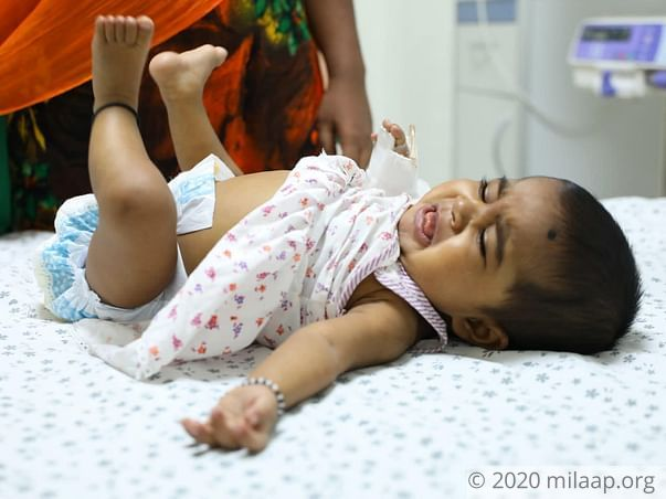 Help 7-month-old Manasvi fight liver disease