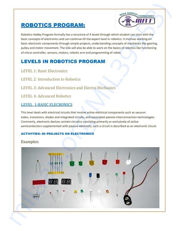 Robotics programe