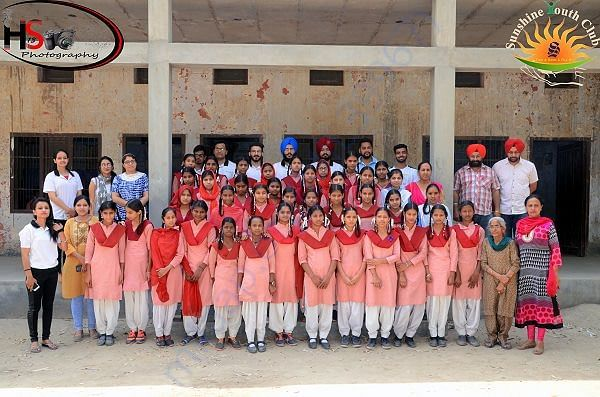 Adopted 50 students of govt. girls school verka and paid annual fees