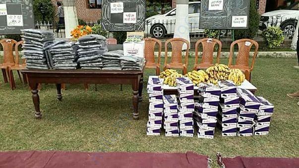 provided 150 school uniform  in khalsa school for boys, amritsar