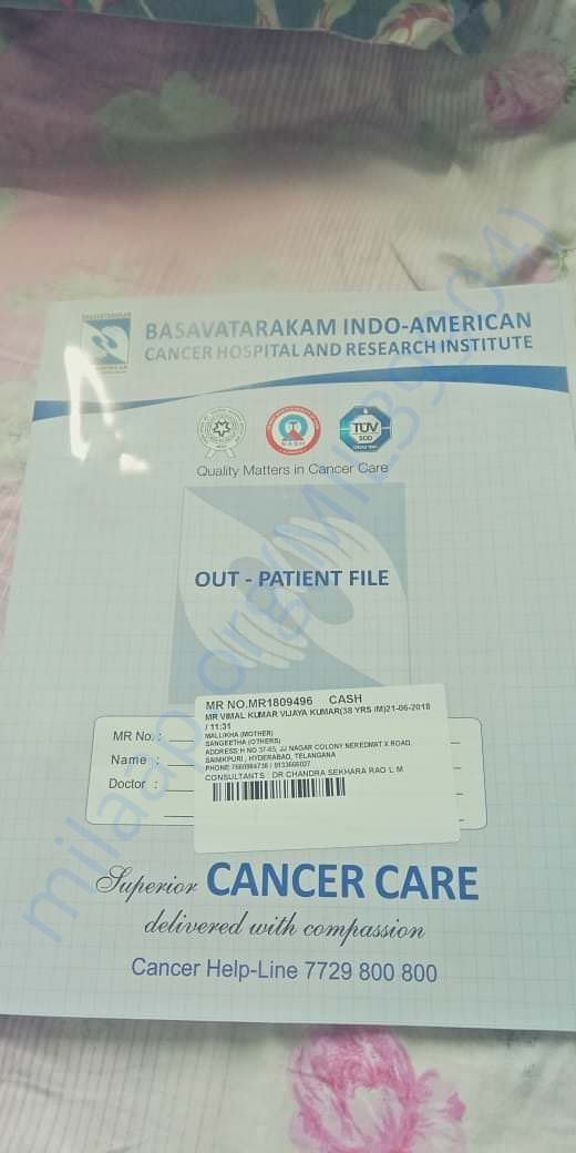 Bhasavataram cancer Hospital's report