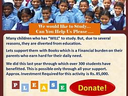 Help Children from Poor Family Background with Books & Stationary