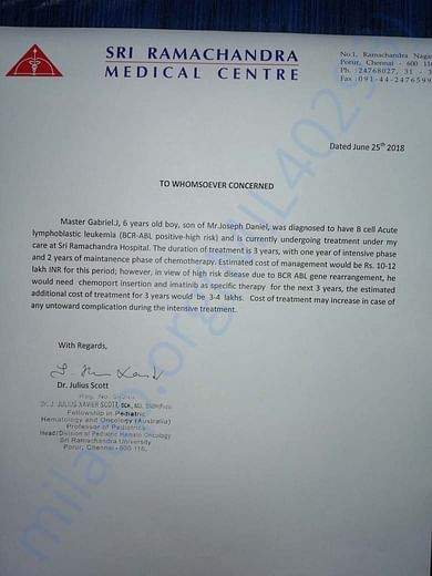Estimation Letter From Dr